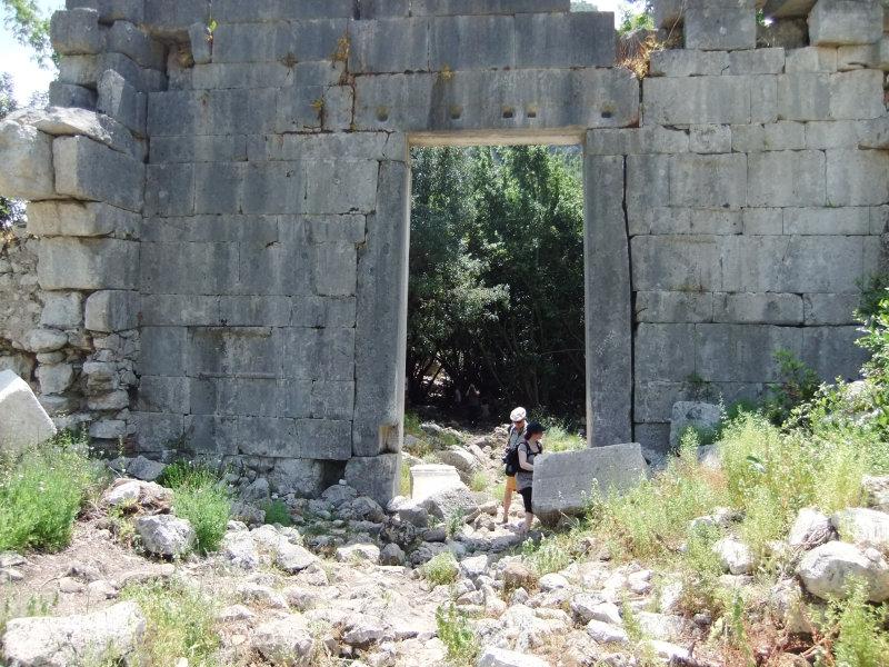 Reste der alten Stadt Olympos